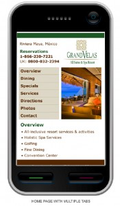 Mobile Website for Hotels