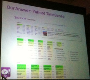 Yahoo Time Sense- internal tool