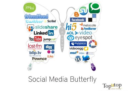 Social Media Butterfly