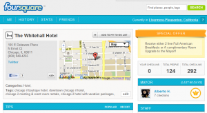 The Whitehall Hotel's Foursquare Page