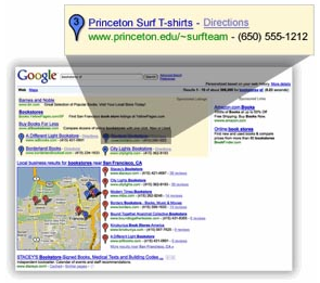 Google Local Listing Ads - Discontinued December 2009