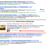 Google includes social media in search results