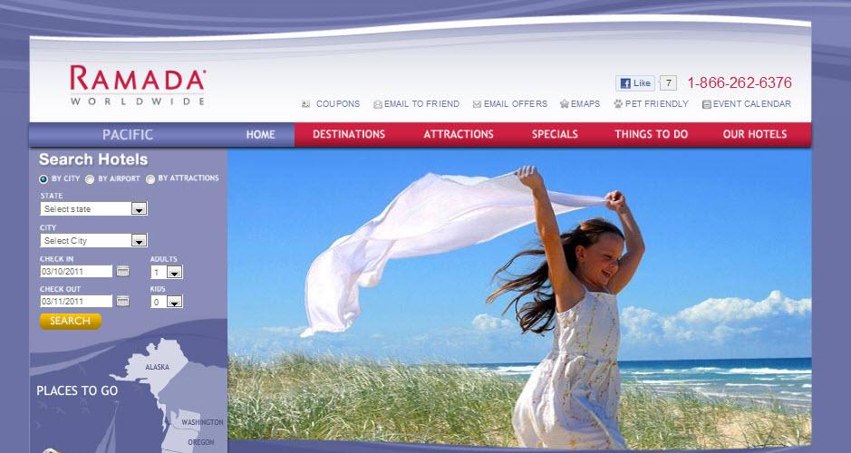 Ramada Pacific Website