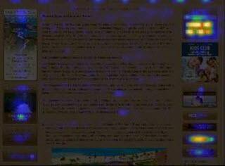 Banner blindness heat map