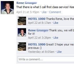 Facebook interaction