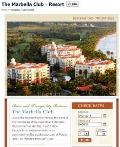 The Marbella Club custom Facebook page