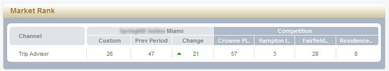 Online Reputation Management program eBuzz Connect showing Market Rank improvement.