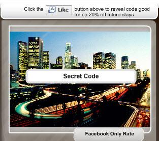 Facebook Fangate Hotel Discount