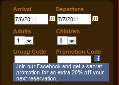 Facebook secret promo code