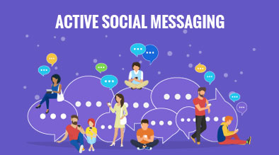 Active Social Messaging