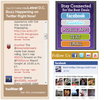 Common Social Media Widgets