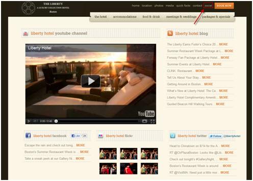 Liberty hotel social media page