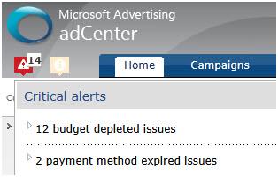 Microsoft adCenter Dashboard