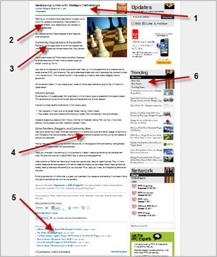 Blog stickiness