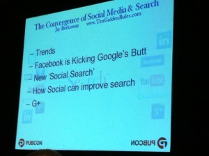 Convergence of Social Media and Search - PubCon 2011