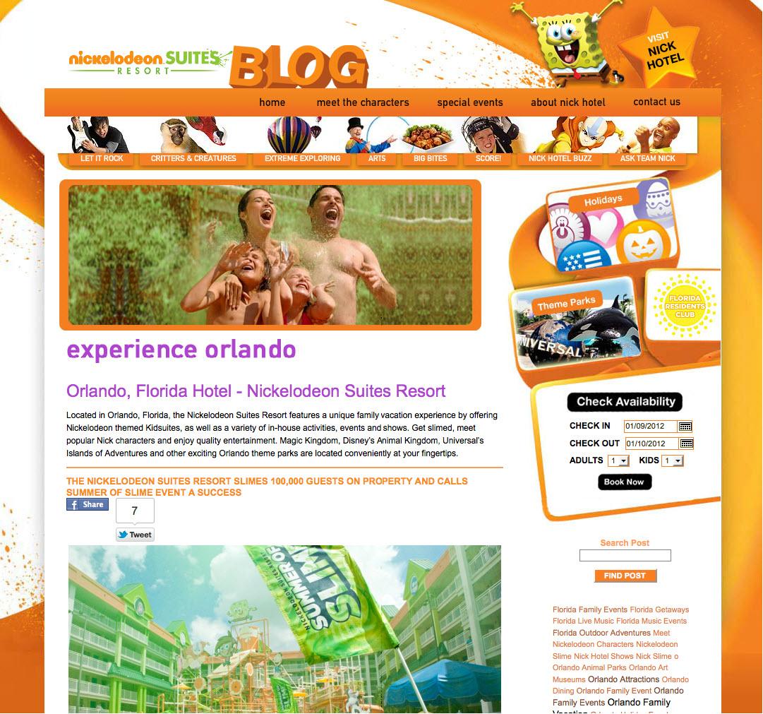 Nickelodeon Suites Blog