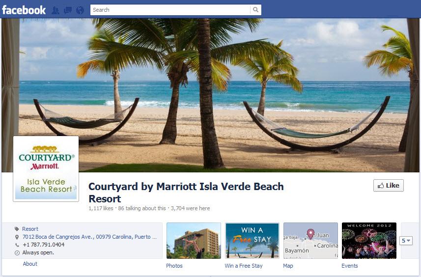 Facebook Timeline for Courtyard by Marriott Isla Verde Beach Resort - milestoneinternet.com, Milestone Inc.
