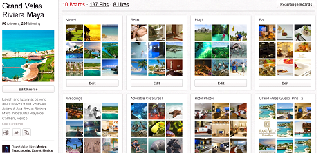 Pinterest Pinboard Example for Hotels