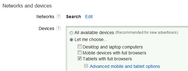 PPC Opportunities in Tablet Device Targeting