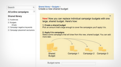 Adwords Shared Budgets