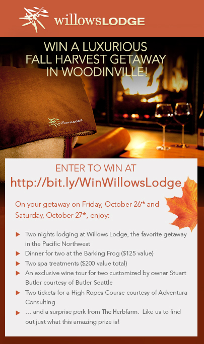 Hotel Facebook Sweepstakes - Willows Lodge