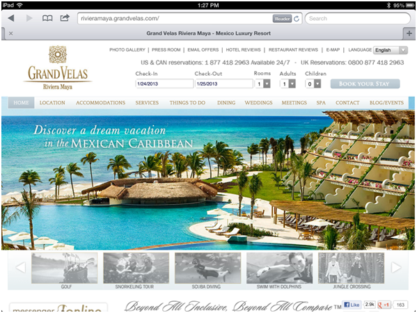 responsive website design tablet
