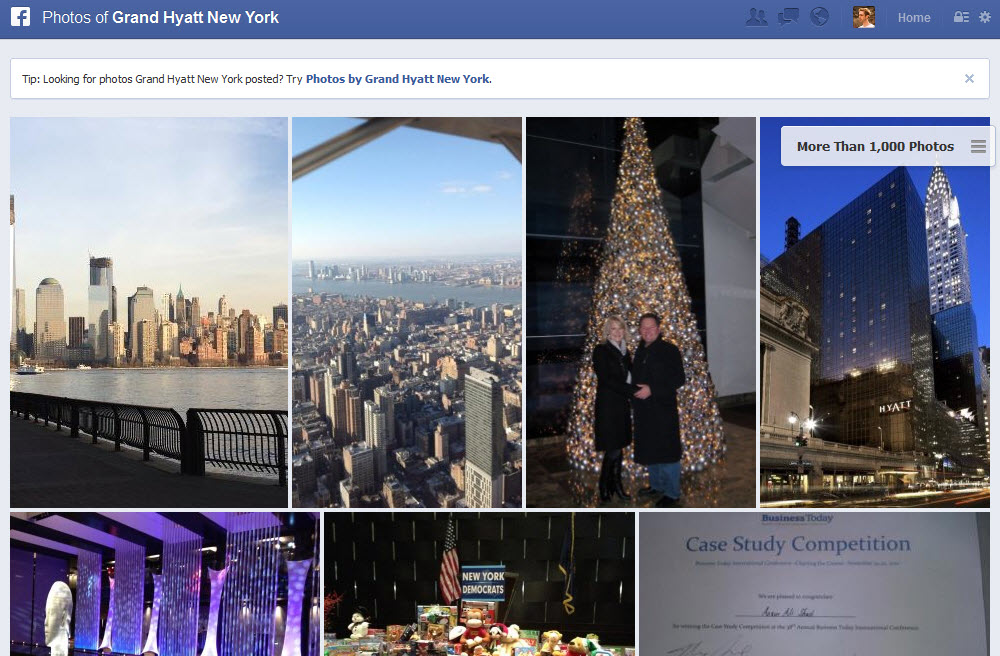 Facebook Graph Search Photos of Grand Hyatt New York