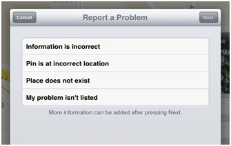 Reporting Apple Maps Problems