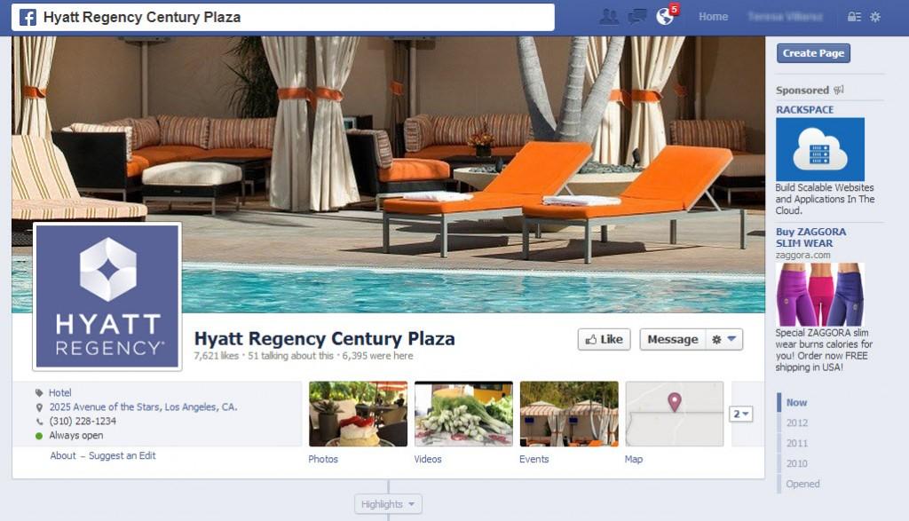 Hyatt Regency Century Plaza - Facebook Page