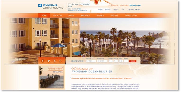 IAC Best Social Media Campaign - Wyndham Oceanside Pier