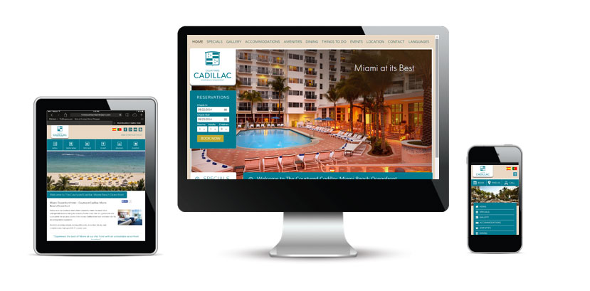 Courtyard Cadillac Miami Beach Responsive Website Design