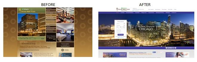 hotel website design case study