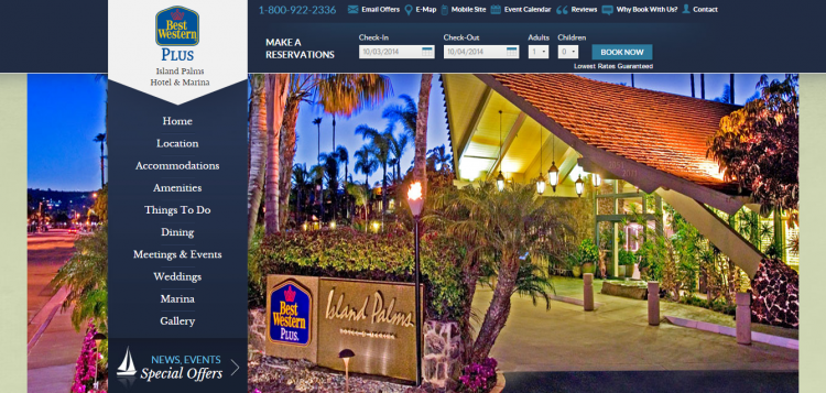 Hotel Website Design for Best Western Hotels