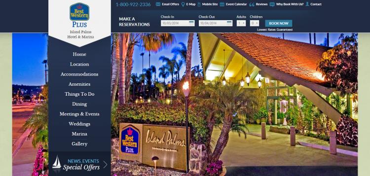 Hotel Website Design for Best Western Hotels