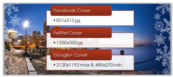 Facebook Twitter Google+ Cover Picture Template Dimensions