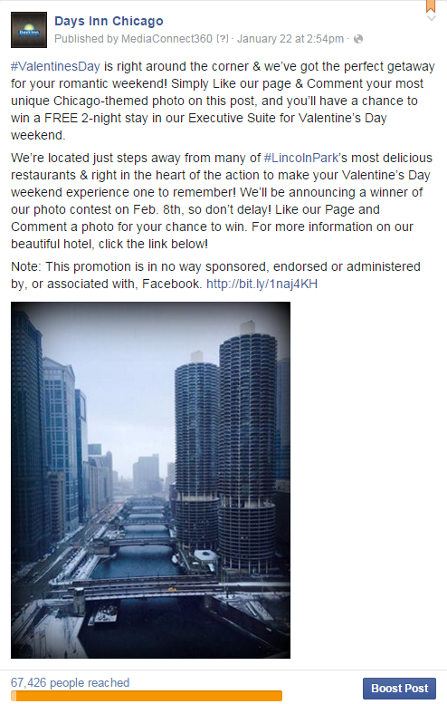 Paid advertising for Facebook