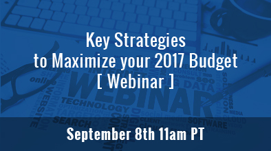 Key Strategies to Maximize Your 2017 Budget [Webinar Recap]