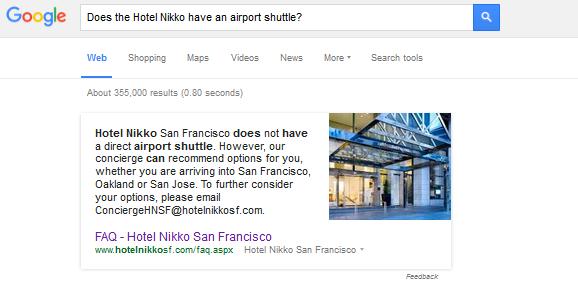 FAQ Module Hotel Nikko