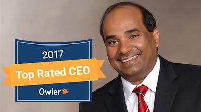 Milestone CEO, Anil Aggarwal, recognized as 2017 Owler Top Rated CEO