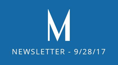 Milestone Newsletter - September 28, 2017