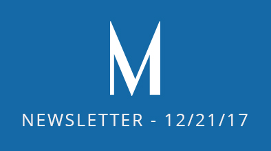 Milestone Newsletter - December 21, 2017
