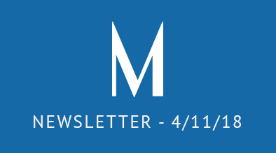 Milestone Newsletter April 11, 2018