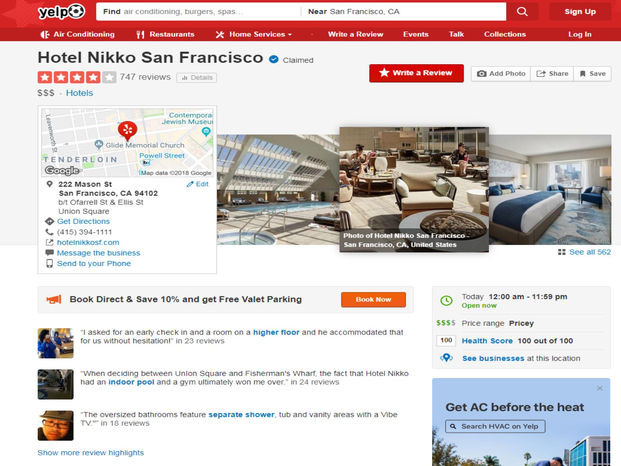 Hotel Nikko Yelp - milestoneinternet.com, Milestone Inc.