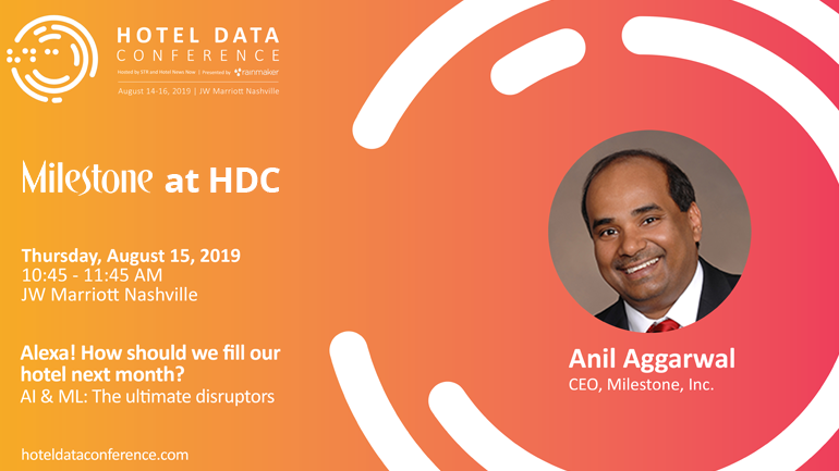 Milestone CEO will speak at Hotel Data Conference 2019