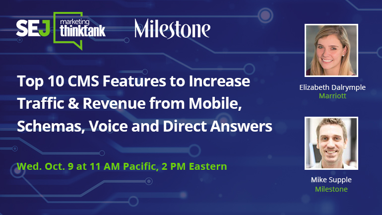 Webinar Oct. 9: Top 10 CMS Features to Increase Traffic & Revenue