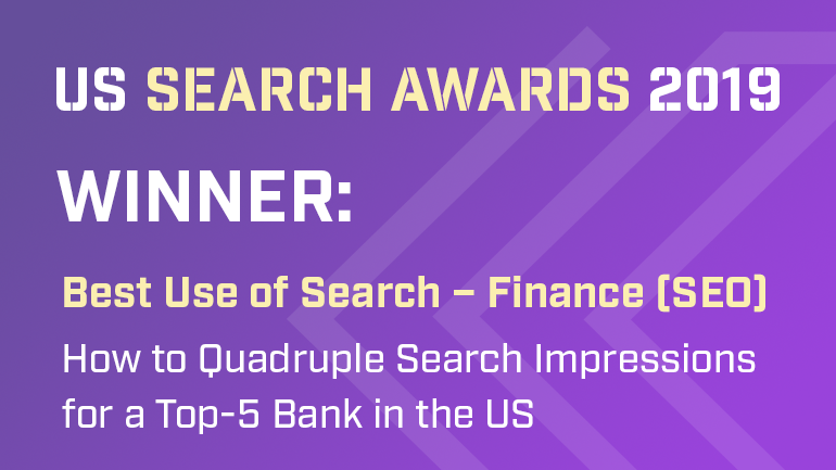 Milestone wins the prestigious US Search Award for 2019