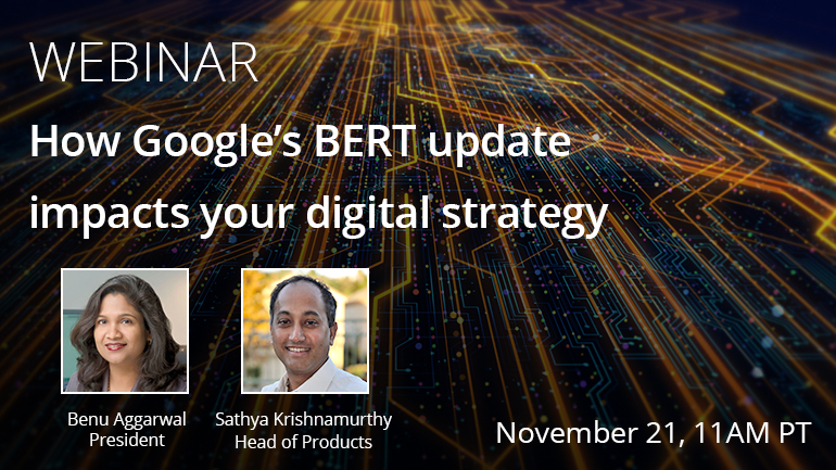 Webinar Nov. 21 - How Google's BERT update impacts your digital strategy