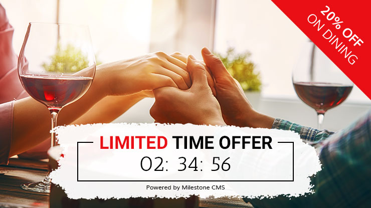 Turn website visitors into buyers with  Milestone CMS' Limited Time Offer  Feature