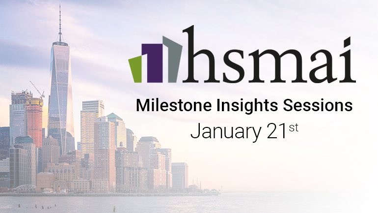 Announcing 3 Speaking Sessions at HSMAI - January 2020
