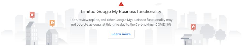 Google announcement - limited functionality on Google My Business. - milestoneinternet.com, Milestone Inc.